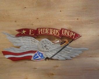 "Bellamy Eagle with ""E PLURIBUS UNUM"" Banner..faces to the Right"