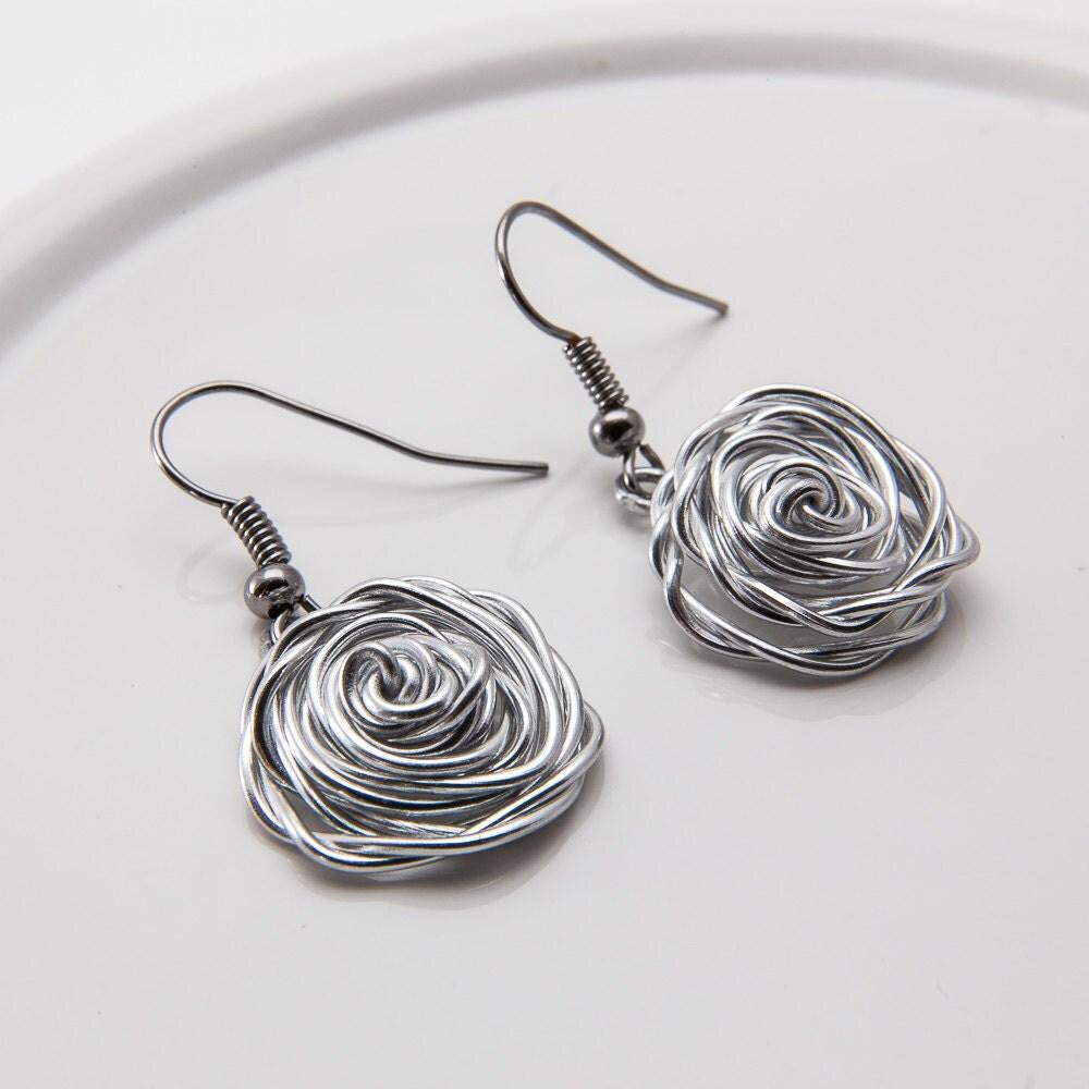 Silver Wire Earrings Wire Work Designs Silver By