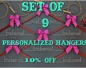 Set of 9 personalized hangers - perfect for bridal party