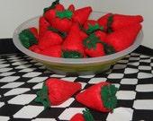 Felt Strawberry Play Food