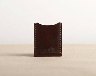 Brown Chromexcel Leather Card Case