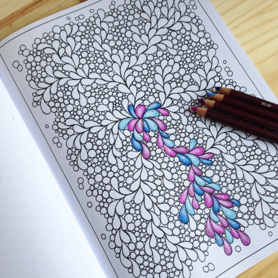 Zentangle Inspired Pretty Pattern Coloring Page PDF Page 55