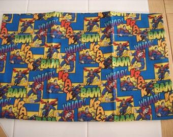 Superman travel pillowcase