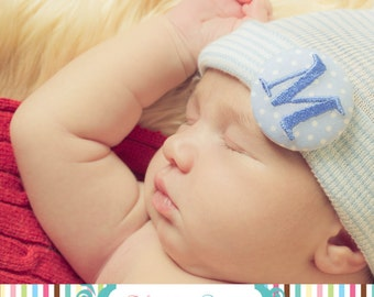 Newborn Hospital Hat for Boys, hospital newborn hat, baby boy hat, monogrammed newborn hat, monogrammed baby hat, newborn boy hat, baby boy