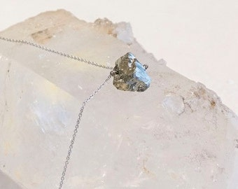 Pyrite-Mineral- Silver Necklace