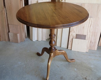 Maple Candle Stand Pedestal Table