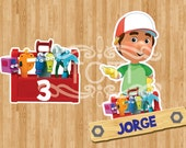 Handy Manny | Personalized Table Centerpieces | [DIGITAL FILE ONLY]