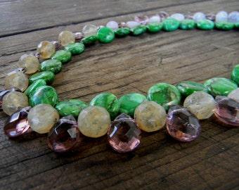 Amethyst Handmade Necklace Wedding Sundance style jewelry