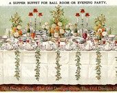 Mrs Beeton's Vintage Image Table Setting Supper Buffet for Ball Room or Evening Party Digital Download JPG