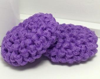Purple Dish Scrubbies - Crochet Scrubbies - Eco Kitchen - Dish Scrubber - Hand Crochet Set of 2 - Crochet Dish Scrubbies - Gifts Under 10