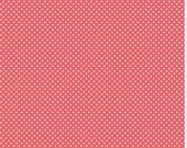 riley blake coral mini dot  fabric