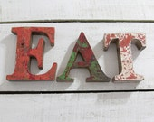 Beach Decor EAT Sign Vintage Style Nautical by Seastyle