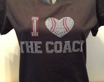 I Love The Coach - Baseball Bling Shirt