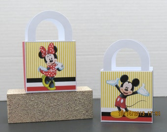 Mickey & Minnie Favor/Treat/Gift Bags (Set of 8)