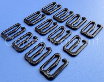 Black Metal Garter Belt Suspender Hooks Corset Supplies 48 Pieces