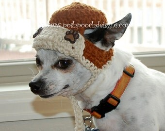 Instant Download Crochet pattern - Aviator Dog Hat SmallDog