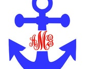 Anchor Monogram Decal