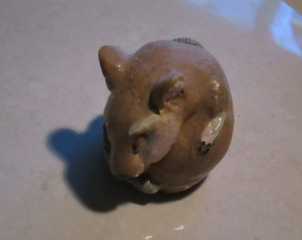 totem Mouse, sleeping baby...Notsuke...copy of an antique...so not-netsuke...Lauren Silvertail