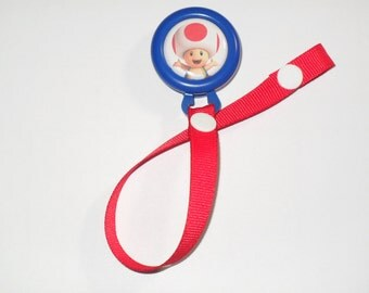 Toad Pacifier Clip