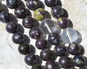 108 Buddhist prayer mala with flower obsidian beads