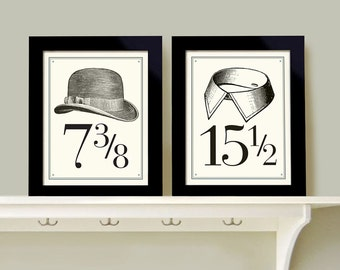Wall Art For Men Bedroom Decor Set Of Two Prints Bathroom Art Mens  Toiletries Fashion Art