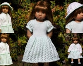 "Sunday Best - PDF Doll Clothes knitting pattern for 18"" Kidz n Cats Doll"