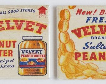 Velvet Peanut Butter Fridge Magnet Set