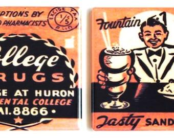 College Drugs Fridge Magnet Set