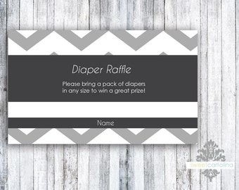 Diaper Raffe - Set of 20 - Gender Neutral Chevron