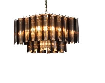 Mid Century Modern vintage,  ceiling light, hanging lamp Lucite chandelier