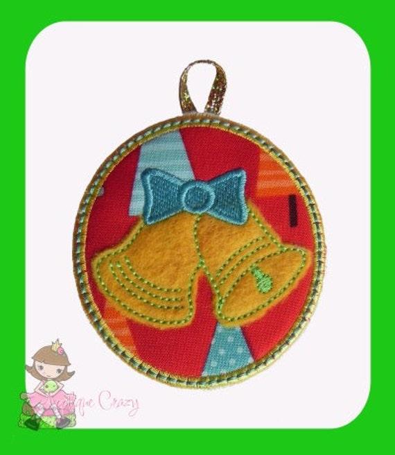 In The Hoop Christmas Bells Ornament design