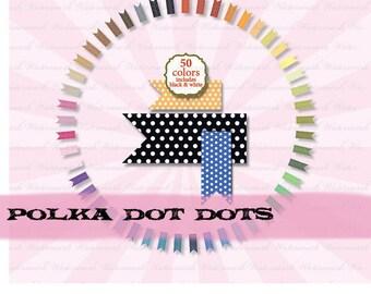 Ribbon Clip Art digital clipart digital polka dot banner journal tag : c0097  v301