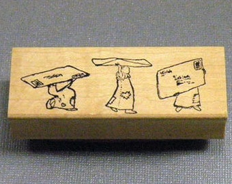 Rubber Stamp Little Ladies Mail Art