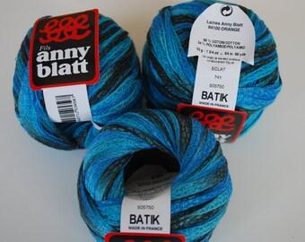 3 skeins Anny Blatt cotton/polyamide