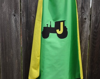 Custom Tractor Cape - Handmade and Reversible