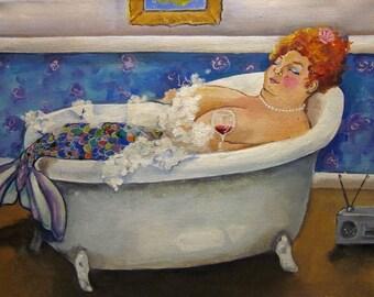 mermaid bbw art print Nancy mermaid giclee print on watercolor paper