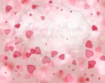 NEW ITEM----LARGE 5ft x 5ft Vinyl Photography Backdrop / Valentines / Shower Of Love