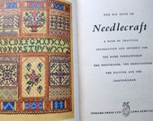 Vintage 40s Sewing Book The Big Book of Needlecraft Odhams Pattern Drafting Knitting Crochet Soft Furnishings Toys