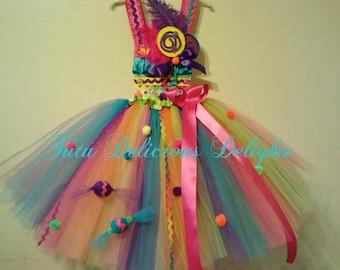 Rainbow Sugar Rush Tutu Dress, Candy Land Tutu Dress, Lollipop Tutu Dress, Pageant Dress, Kid Birthday Tutu Dresses, Kids Photo Props