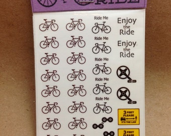 Bicycle Nail Decals