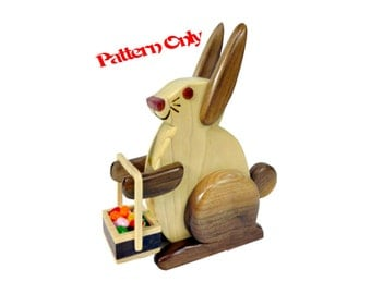 The Bunny Candy Dispenser Scroll Saw Pattern w/ Video Instructions (Digital version)
