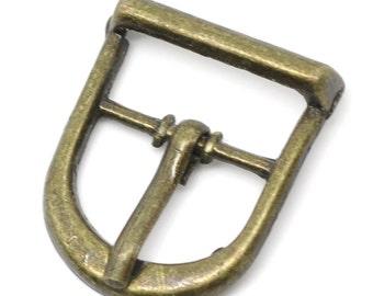 Bronze Buckle Clasp Shoe Belt - 22x19mm - 8pcs  - Ships IMMEDIATELY from California - A256