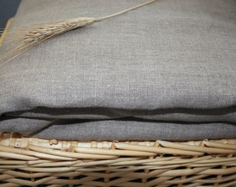 Flax Bed Linen Sheet Set... Queen Size 100% Linen Grey Gray Eco - Custom size