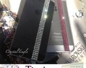 Modern Simple Elegant Design Made w/ Bling Swarovski Elements Crystal Back Cover Hard Case For iPhone 7 6S Plus SE 5S 5C