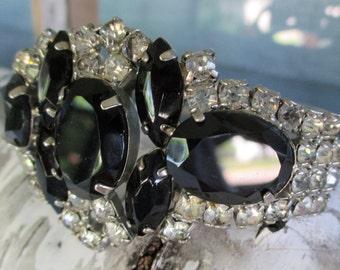 Vintage rhinestone clamp bracelet or cuff bracelet juliana style