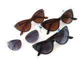 Retro Cat Eye Sunglasses - 5 Colors - UV 400 - Ready to Embellish