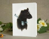 Baby Skunk Card 1pc Blank A2 Note Card