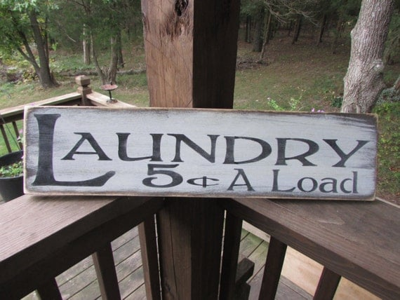 Distressed Laundry Sign Primitive Laundry Sign Wood Sign Laundry Sign Laundry