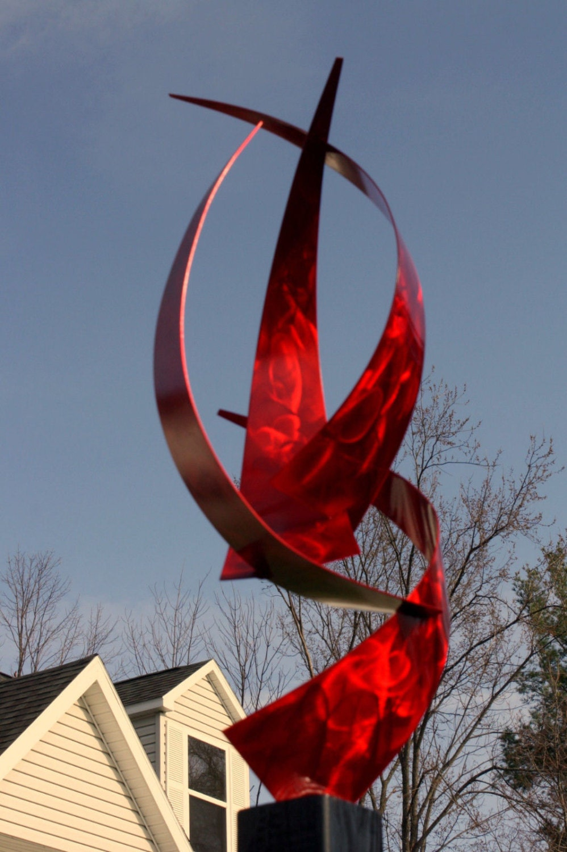Wilmos Kovacs In-Outdoor Metal Sculpture Modern Abstract on Backyard Metal Art id=92779