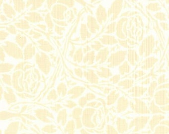 Floral Fabric, Desiree by Blank Quilting, Cream Floral Fabric, Rose Fabric, Ivory Fabric, 00845